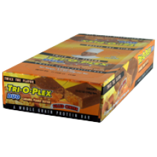 Chef Jay's: Tri-O-Plex Duo Bar Caramel Peanut Butter 12 ct